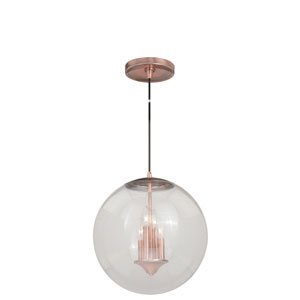 630 Series Copper 16-Inch Pendant with Clear Glass