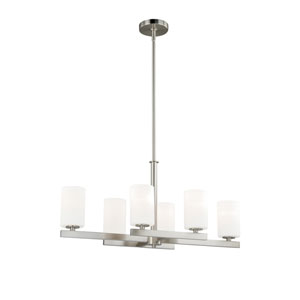 Glendale Satin Nickel Six-Light Chandelier