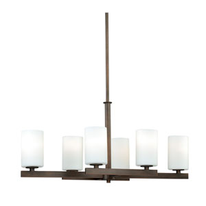 Glendale Sienna Bronze Six-Light Chandelier