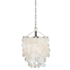 Elsa Satin Nickel One-Light Pendant