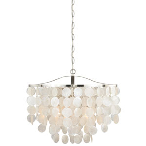 Elsa Satin Nickel Three-Light Pendant