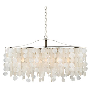 Elsa Satin Nickel Five-Light Pendant