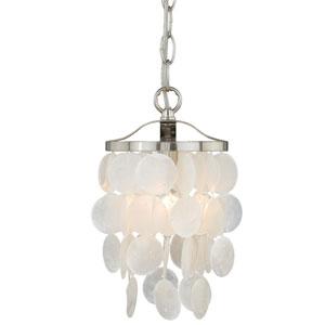 Elsa Satin Nickel One-Light Mini Pendant