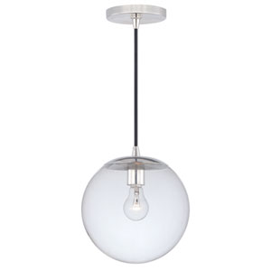 630 Series Polished Nickel One-Light Mini Pendant with Clear Glass