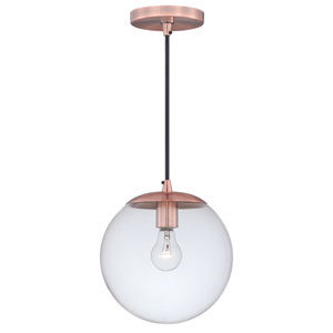630 Series Copper One-Light Mini Pendant with Clear Glass