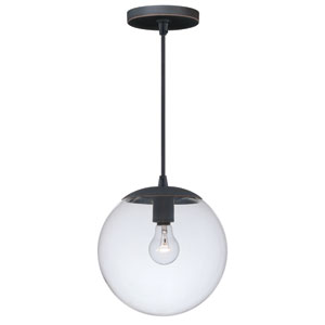 630 Series Black Iron One-Light Mini Pendant with Clear Glass
