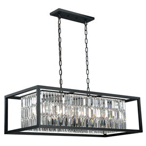 Catana Oil Rubbed Bronze Eight-Light Linear Chandelier