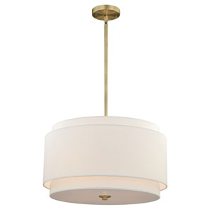 Burnaby Matte Brass Four-Light Pendant