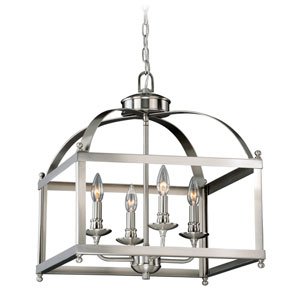 Juliet Satin Nickel Four-Light Pendant
