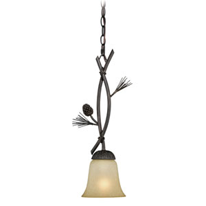 Sierra Black Walnut One-Light Mini Pendant