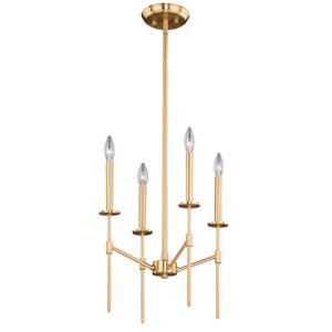 Kedzie Natural Brass Four-Light Pendant