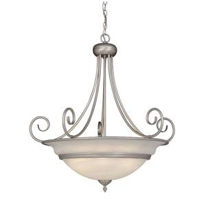 Da Vinci Brushed Nickel Six-Light 32-Inch Pendant