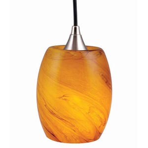 Milano Honey Ripple Mini Pendant