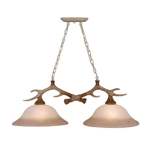 Lodge Noachian Stone Two-Light Kitchen Island Light