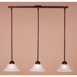 Da Vinci Bronze Three-Light Adjustable Mini Pendant