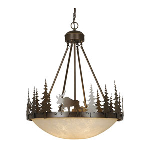 Yellowstone Burnished Bronze Four-Light 24-Inch Pendant