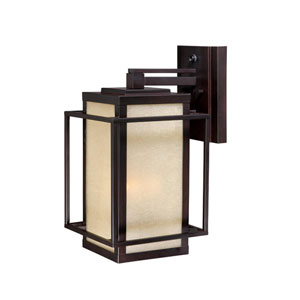 Robie Espresso Bronze Three-Light 9-1/2-Inch Outdoor Wall Light