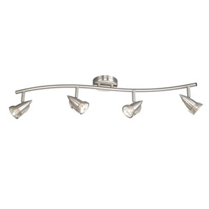 Satin Nickel Four-Light Line Voltage Spot Light