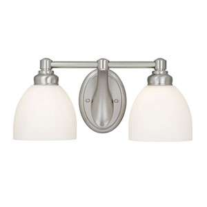 Stockholm Brushed Nickel Two-Light Wall Light