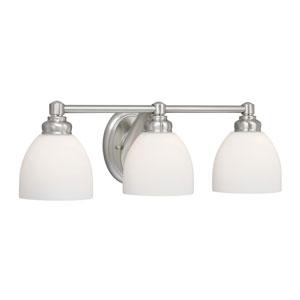 Stockholm Brushed Nickel Three-Light Wall Light