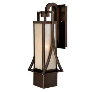 Osaka Venetian Bronze 19.5-Inch High One-Light Outdoor Wall Sconce