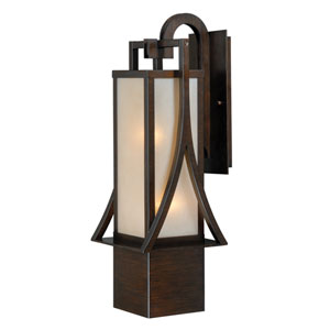 Osaka Venetian Bronze 25-Inch High One-Light Outdoor Wall Sconce