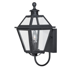 Nottingham Textured Black 7-Inch Outdoor Wall Light