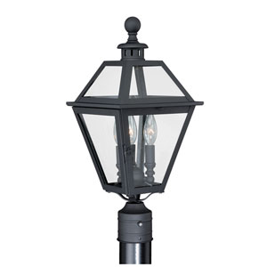Nottingham Textured Black 9-Inch Outdoor Post Light
