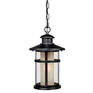 Cadiz Oil Rubbed Bronze 8-Inch Outdoor Pendant