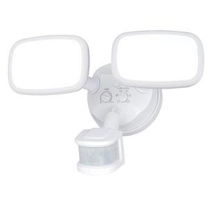Sigma White Two-Light LED Outdoor Motion Sensor