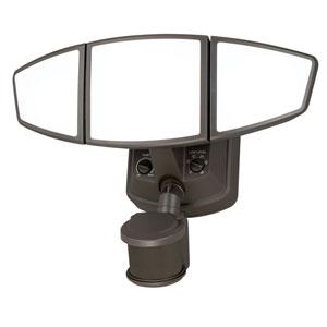 Omega Bronze Three-Light LED Outdoor Motion Sensor