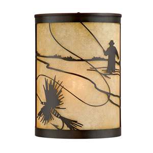 Mayfly Burnished Bronze 8-Inch One-Light Outdoor Wall Sconce