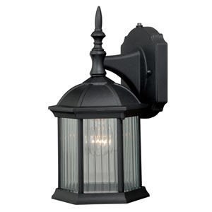 Kingston Textured Black One-Light Outdoor Wall Sconce