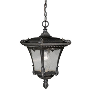 Castile Weathered Bronze 11-Inch One-Light Outdoor Pendant