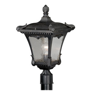 Castile Weathered Bronze 11-Inch One-Light Outdoor Post Mount