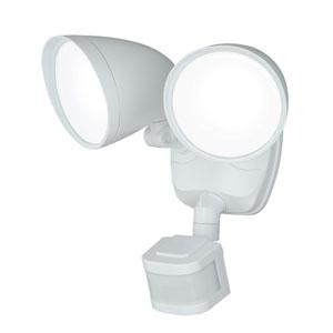 Tau LED White Two-Light Outdoor Motion Sensor