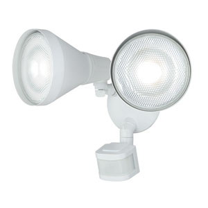 Gamma White Two-Light Outdoor Motion Sensor