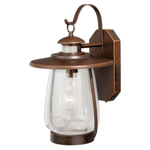 Galway Burnished Bronze One-Light Outdoor Motion Sensor Wall Sconce