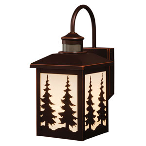 Yosemite Burnished Bronze One-Light Outdoor Motion Sensor Wall Sconce