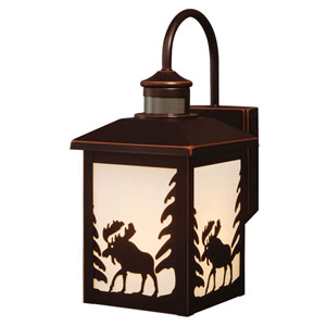 Yellowstone Burnished Bronze One-Light Outdoor Motion Sensor Wall Sconce
