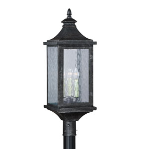 Cavanaugh Athenian Bronze Three-Light Outdoor Post Light