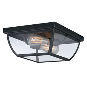 Granville Oil Burnished Bronze Two-Light Outdoor Flush Mount