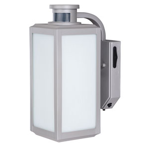 Rand Satin Nickel One-Light Outdoor Motion Sensor Wall Sconce