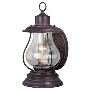 Dockside Six-Inch Weathered Patina One-Light Outdoor Wall Sconce