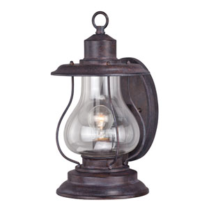 Dockside Eight-Inch Weathered Patina One-Light Outdoor Wall Sconce