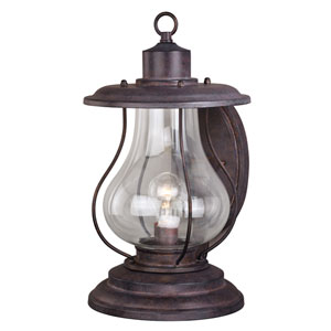 Dockside 10-Inch Weathered Patina One-Light Outdoor Wall Sconce