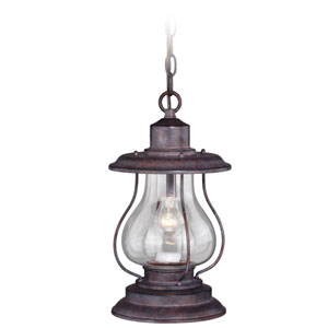 Dockside Weathered Patina One-Light Outdoor Pendant