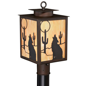 Calexico Burnished Bronze One Light Outdoor Post