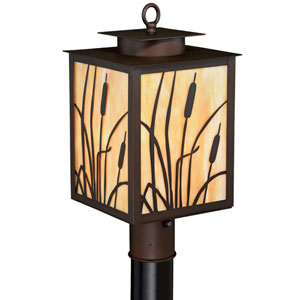 Bulrush Burnished Bronze One Light Outdoor Post