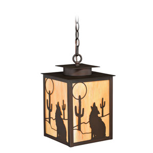 Calexico Burnished Bronze One-Light Outdoor Pendant